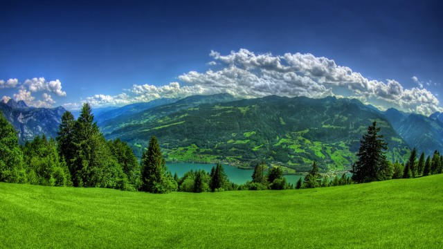 Landscape background-green wallpaper, background wallpapers