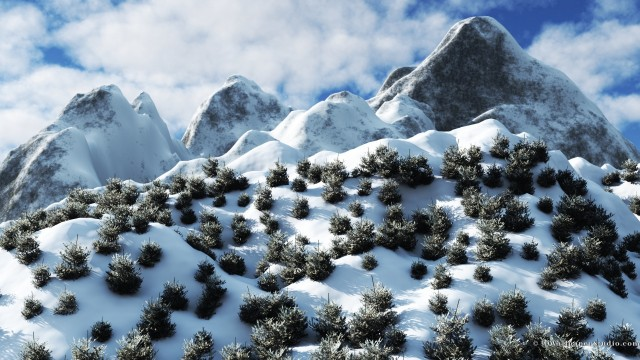 Winter mountains wallpaper 1920x1080