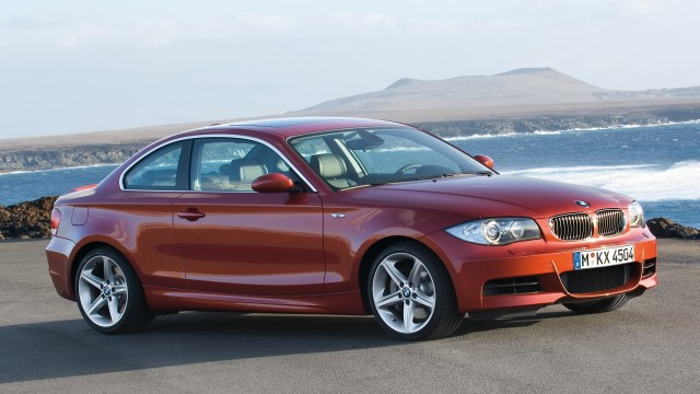 BMW 135i Coupe beach