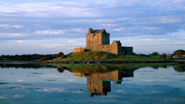 architecture, castles, sky, clouds, reflection, water