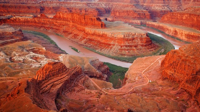 Colorado River From Dead Horse Point State Park, Utah