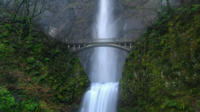 Bridge and Waterfall