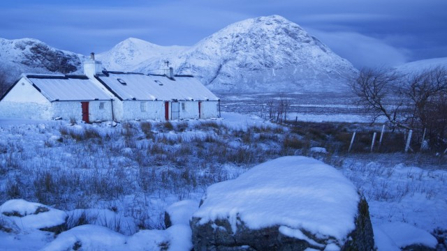 Black Rock Cottage in Winter, Glencoe, Scotland